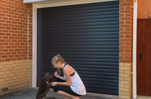 Black Roller Garage Door